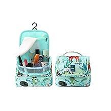 Designer Hanging Toiletry Bag Organizer with Hook by HANKCLES| TSA Travel Carryall w/ Multiple Storage Pockets | Makeup, Cosmetics, Toiletries | Personal Bathroom Organization