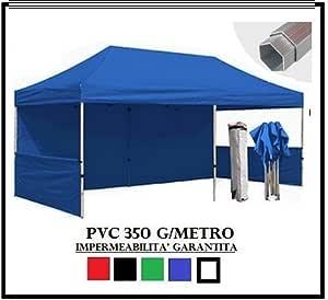 RAY BOT Carpa Plegable Azul Aluminio Hexagonal 40 mm 3 x 6 + 4 ...