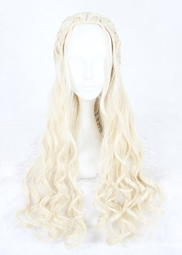 Costume Halloween Perruque (KUPARK 70cm Long Curly Wavy Synthetic Wigs Cosplay Anime Costume Wig Halloween)