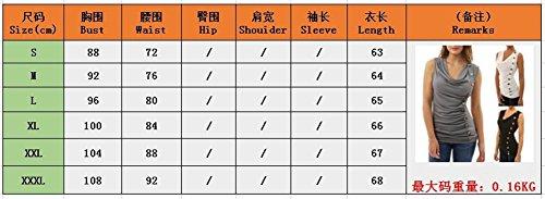 Camicetta T G Maniche Shirt Tenxin V 1 Estiva Casual Donna con Shirt da da T a Scollo Senza Donna SwTtqnY7t