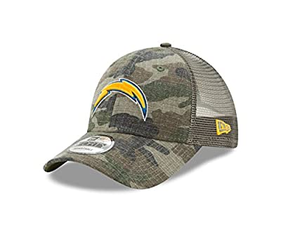 Los Angeles Chargers Camo Trucker Duel New Era 9FORTY Adjustable Snapback Hat / Cap