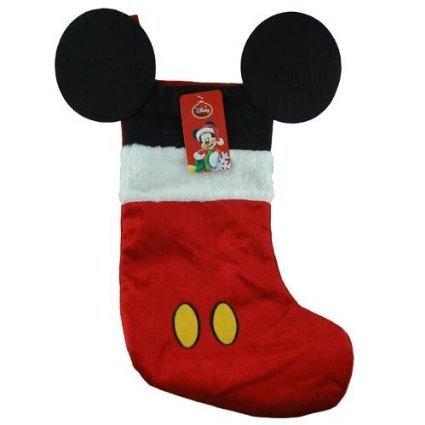 disney mouse ears 18 velour christmas stocking with plush cuff mickey mouse red - Mickey Mouse Christmas Stocking