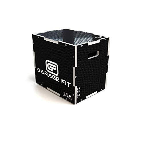Garage Fit Wood Plyo Box - 24/20/16-3 in 1 Plyo Box Plyo-Box, Plyometric Box, Plyometric Jump Box,...