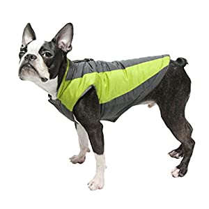 Gooby Active Trekking Dog Jacket - Medium - Lime Green