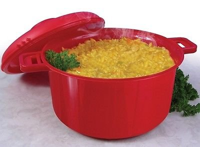 Microwave Pressure Cooker Micromaster Convection Rice Steamer As Seen On TV Red