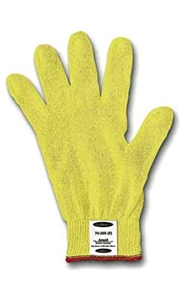 ANSELL 70-200 Hyflex Cut Resistant Gloves,Yellow,Knit,9,PR