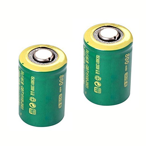 IORMAN 2-Pack Universal 3V 800mAh CR2 Rechargeable Lithium B