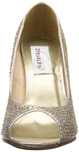 Dyeables Womens Sienna Dress Pump Champagne OM2KkE