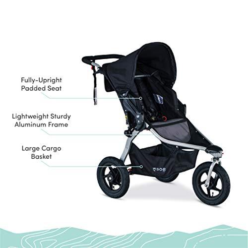 41nUehi7%2BfL - BOB Gear Rambler Jogging Stroller | Smooth Ride Suspension + Easy Fold + XL Canopy Coverage, Black [New Logo]