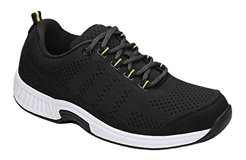 Orthofeet Coral Women's Comfort Orthopedic Arthritis Diabetic Orthotic Sneakers Black Synthetic 8 W US by Orthofeet