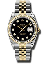 Rolex Oyster Perpetual Datejust 36 Black Dial Stainless Steel and 18K Yellow Gold Jubilee Bracelet Automatic Ladies