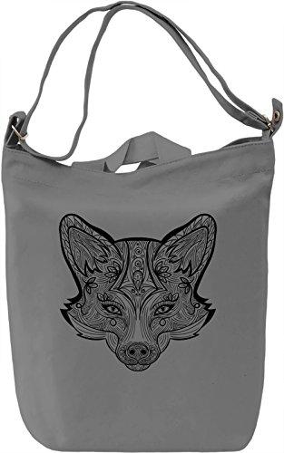 Fox head Borsa Giornaliera Canvas Canvas Day Bag| 100% Premium Cotton Canvas| DTG Printing|