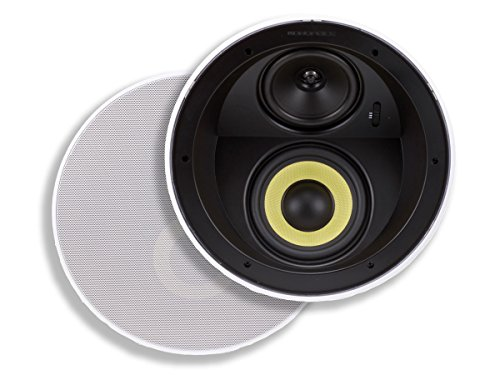 Monoprice Caliber In Ceiling Speakers 6.5 Inch Fiber 3-Way with Concentric Mid/Highs (pair) - 107605 by Monoprice