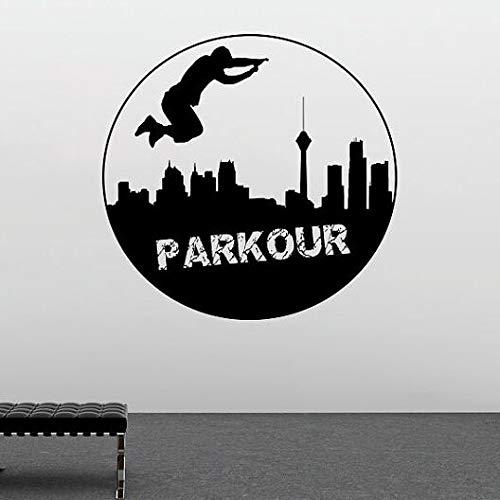 zxddzl Extrme Sports Vinilo Tatuajes de Pared Parkour Etiqueta de ...