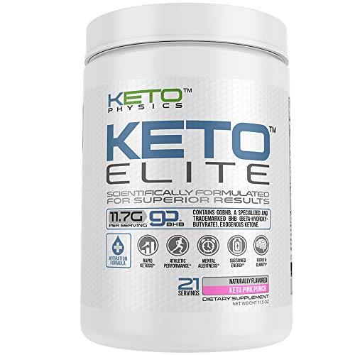 Exogenous Ketones Supplement | Large 21 Servings | Keto Elite | Rapid Ketosis | with Electrolyte Blend & Organic Caffeine | 100% Pure – Zero excipients | BHB Beta-Hydroxybutyrate | Keto Pink Punch Review