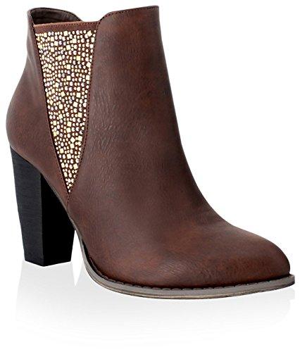 Olivia Miller Women's St. Marks Ankle Boot Brown PQZupI