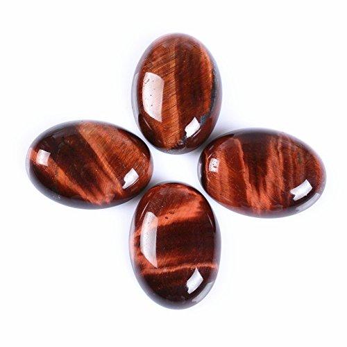 Amethyst 30x22mm Oval Cabochon CAB Flatback Semi-Precious Gemstone Ring Face