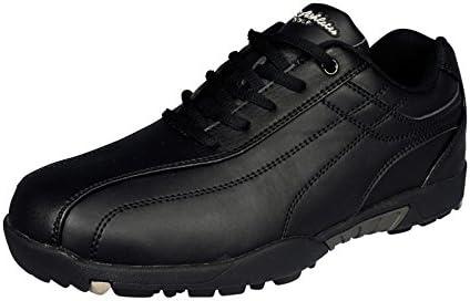 LEZAX メンズ ゴルフ シューズ US athlete ユーエスアスリート ゴルフ スパイクレス USSH-5551 ブラック