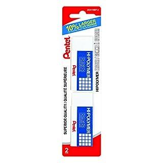 Pentel Hi-Polymer Large Eraser 2-Pack, White - ZEH10BP-2 (B00DUU1CEA)   Amazon price tracker / tracking, Amazon price history charts, Amazon price watches, Amazon price drop alerts
