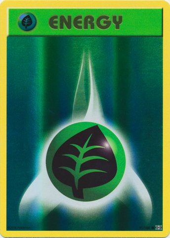 Pokemon - Grass Energy (91/108) - XY Evolutions - Reverse Holo