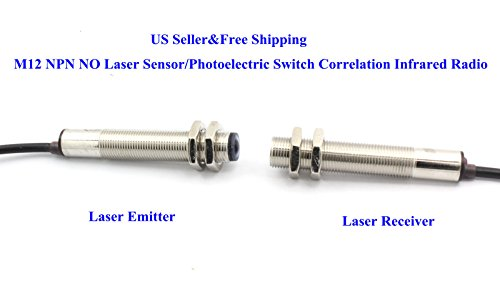 US M12 NPN NO Laser Sensor/Photoelectric Switch Correlation Infrared Radio Photoelectric Sensor Switch