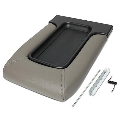 Console Kit - For 01-07 Silverado/Tahoe/Sierra/Yukon XL/Escalade Center Console Tray Lid Repair Kit Arm Rest Latch (Gray)