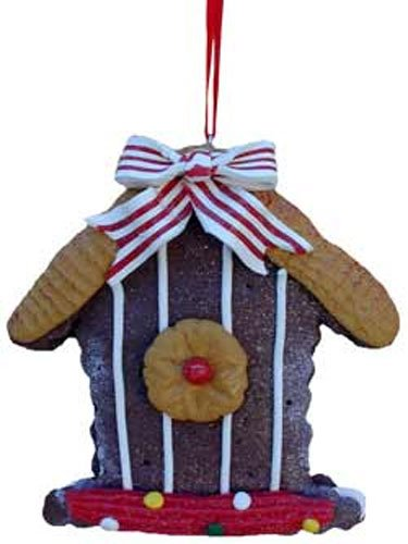 Birdhouse Cookie (Ginger Cane Cookie Chocolate Birdhouse Ornaments [3636F])