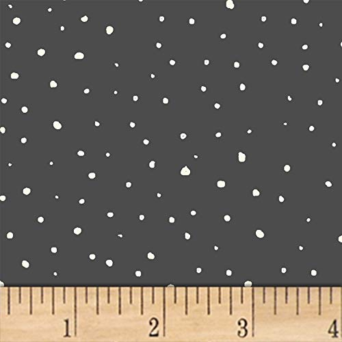 A Walk in The Woods Snow Charcoal Fabric by The Yard -