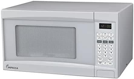 Impecca CM0774 LED Digital Countertop Microwave Oven with 10 Power Levels and Digital Display, 0.7 Cubic Feet, White