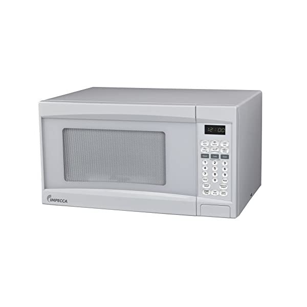 Impecca Microwave Oven with 10 Power Levels and Digital Display, 0.7 Cubic Feet, White 1