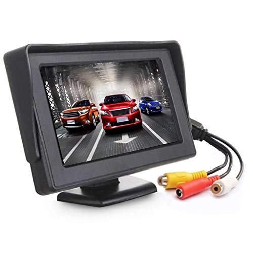 4.3 Inch Car Rear View Backup Monitor, Thinlerain TFT LCD Color Display Car Rear View 180 Degree Adjustable Monitor Screen for Rearview Vehicle Backup Parking Cameras