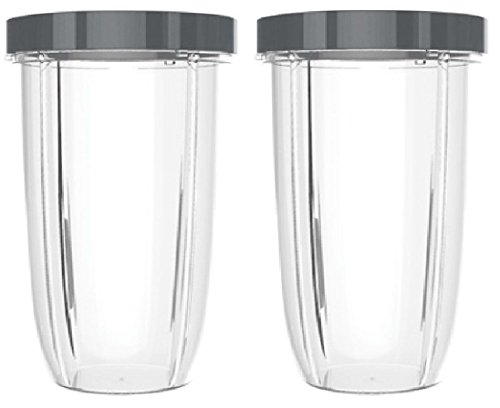 Preferred Parts 2 Piece Huge Replacement Cups for Nutribullet High-Speed Blender/Mixer Cup with Screw-Off Lip Ring, 32 oz.
