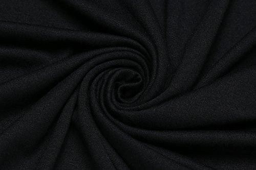 Beyove Manches Longues Occasionnels Épaule De Maternité Au Large Des Femmes Coton Lâche Robe Maxi Ceinture Élastique Noire