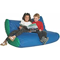School Age Double High Back Seating Blue/Green