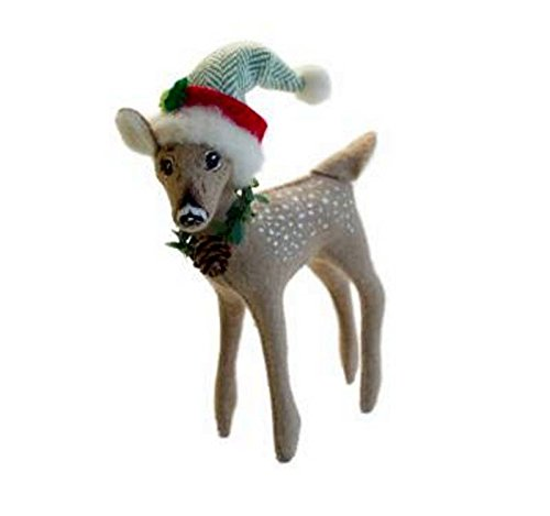 "2013 Retired Annalee Dolls 5"" Alpine Fawn for Christmas, Posable"