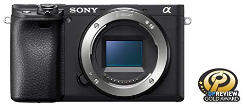 Sony Alpha a6400 Mirrorless Camera: Compact APS-C Interchangeable Lens Digital Camera with Real-Time Eye Auto Focus, 4K Video & Flip Up Touchscreen - E Mount Compatible Cameras - ILCE-6400/B Body (Best Slow Motion Cameras Of 2019)