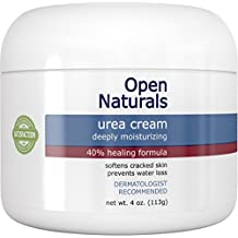 Open Naturals Urea 40% Foot Cream - 4 oz - Premium Callus Remover - Moisturizes and Rehydrates Thick, Cracked, Rough, Dead and Dry Skin - Elbow, Feet - Your Satisfaction or 100% Money Back Guarantee