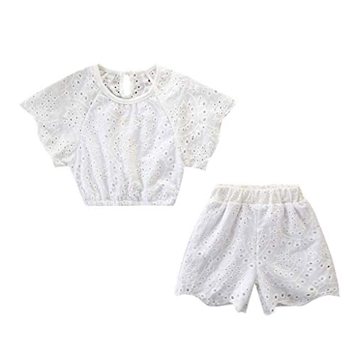 (White, Recommended Age:4-5 Years,Label Size:110) Pregnancy Dress for Baby Shower, Dress Like A Girl, Little Girl Dresses Unicorn, White Flower Girl Dress, Girl Dress Shoes Size 3 ()