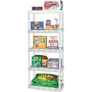 Amazon Com Plano Molding 5 Shelf Shelving Unit White