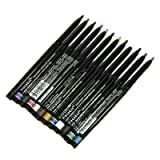 Nabi Cosmetics Retractable Waterproof Eye Liner Pencil 12 Different Colors