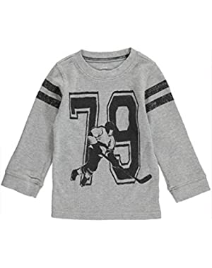 Carter's Boy L/S 79 Hockey Thermal Tee; Grey