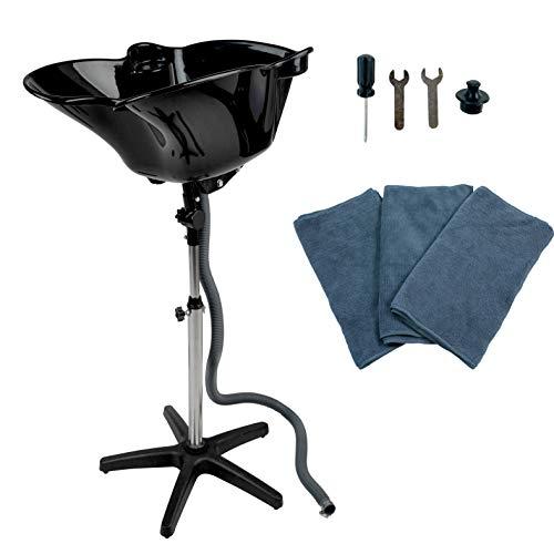 (Portable Shampoo Bowl, Adjustable Salon Basin, Beauty Salon Equipment for Hair Stylists - eMark Beauty)