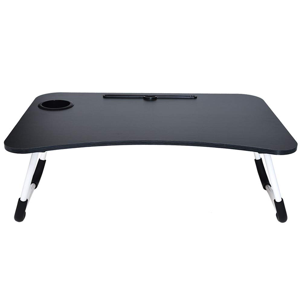 Sonmer Portable Foldable Lazy Laptop Table, Bed Small Desk Breakfast Tray,27.6'' x 19.0'' x 11.1''