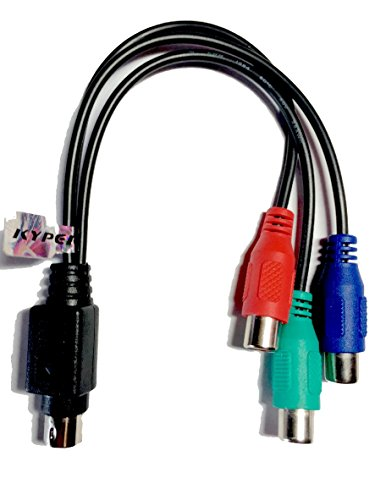Kyper 7-Pin S-Video to HDTV / 3 RCA RGB (Red, Blue, & Green) Component HDTV Video Cable