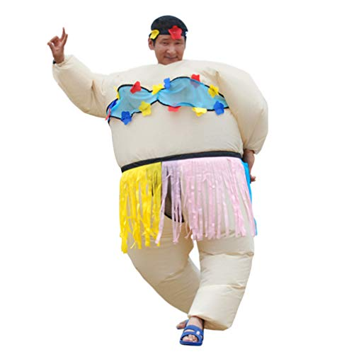 Adults Inflatable Costumes, Halloween Funny Sumo Wrestler Wrestling Suits Big Fat Cosplay Costume ()