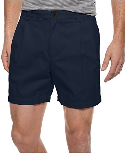 Club Room Shorts, Core Twill Double Pleat Navy 38 ()