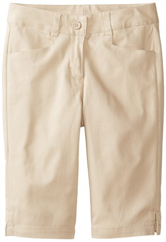 - KHQ Big Girls' Stretch Twill Skimmer Short, Khaki, 10