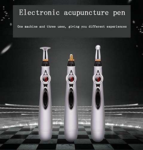 Electronic Acupuncture Pen, Meridian Energy Pen, Electronic Meridian Acupressure Pen, 3 Modes of Pain Relief Tools Laser Acupuncture Magnetic Therapy