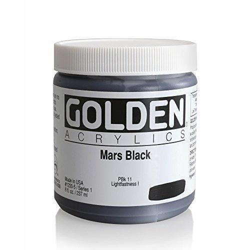 Golden Heavy Body Acrylics Mars Black 8 oz jar