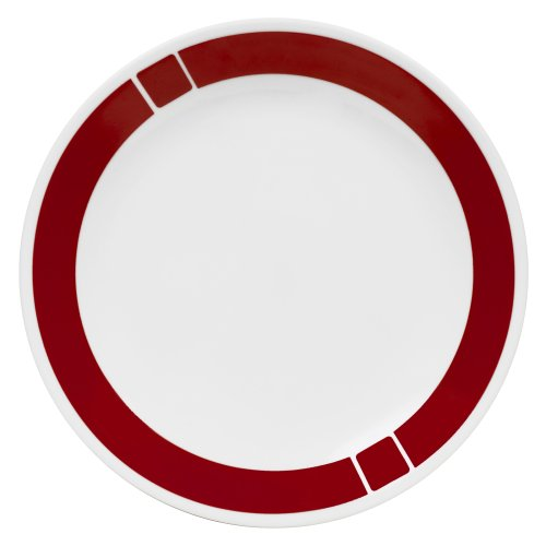 Corelle Livingware 10-1/4-Inch Dinner Plate, Urban Red(Single unit)